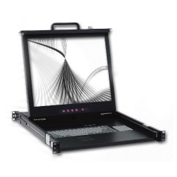 "EJ-119BRK-01 19"" 1U Single Rail LCD Console"